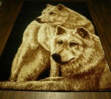 Animals Rugs Aprox 6x4ft 120x170cm Woven Wolfs Design Quality Bargain Prices Dog